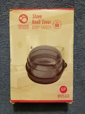 Eudemon 6 Pack Mini Covers, Suit For Small Gas Stove Knob Grey color