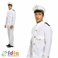 NAVAL OFFICER CAPTAIN SEA SAILOR DRESS UP OUTFIT Mens fancy dress costume
