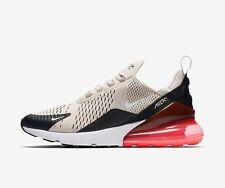 Nike Mens AIR MAX 270 Light Bone / Black / Hot Punch Trainers - uk 11.5 - eu 47