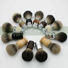 Shaving Brush Badger Hair Black Pure Silvertip Men's Best Travel Shave Tool Kit