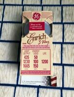NEW 3 way GE Enrich incandescent A21 regular E26 LIGHT BULB 50w - 100 watt 150w