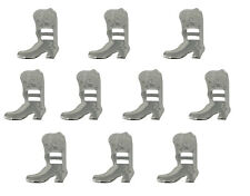 10 pcs Cowboy Boot Silver Metal Western Slotted Conchos Scarf Belt Buckle Vtg