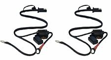 2 x Quick Connect Battery Tender Harness Snap Cord Ring Charger Terminal Wire