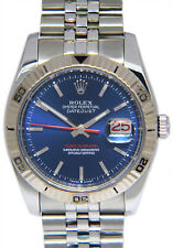 Rolex Datejust Turn-O-Graph Thunderbird Steel Blue/Red Mens 36mm Watch 116264
