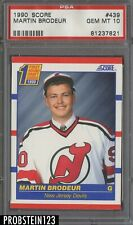 1990 Score Hockey #439 Martin Brodeur New Jersey Devils RC Rookie PSA 10