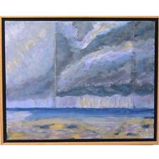 """"""" Storm Clouds """" par Susan Soffer Cohn Peinture acrylique sur toile 17 1.3cmx21"""