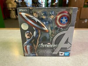 2021 Bandai SH Figuarts Marvel Avengers Assemble CAPTAIN AMERICA Figure NIB