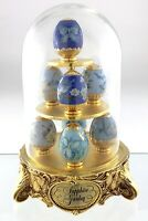 Sapphire Garden House of Faberge Franklin Mint 8 Miniature Hand Painted S742
