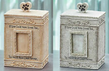 Pet Urn Memorial Cremation Photo Remembrance Picture Paw Print Cat Dog