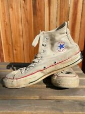 Vintage Made in Usa White High Top All Star Converse Blue Label Size 7