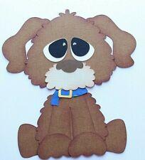 Dog Pet Paper Peicing Scrapbook Premade Die cut Pet Puppy light Brown
