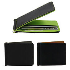 Fashion Men Money Clip Wallet Solid Male Purses with Clip Cash Holder Card Cases