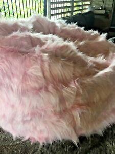 LARGE PINK  SHAGGY FUR BEAN BAG COVER, FUR BEAN BAG 150cm high x 125cm diameter