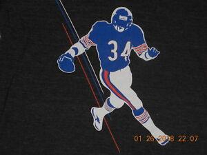 Chicago Bears Women's Shirt Walter Payton #34  Sweetness Classic Running  Large