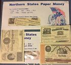 CIVIL WAR Northern Southern States Reproduction Sets Of 9 Each Paper Money Bills for sale