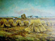 Wilhelm Schusters (1899-1976) - dipinti: paglia-raccolto in Schleswig-Holstein