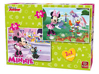 Childrens 2:1 Disney Minnie Mouse & Daisy Duck 24 & 50 Piece Jigsaw Puzzles 5414