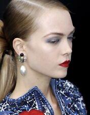 CHANEL Gripoix Pearl Drop Earrings