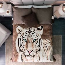 White Tiger Blanket With Sherpa Very Softy And Warm King Size
