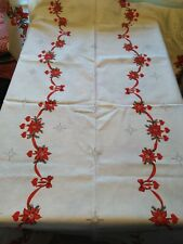 "A LARGE CHRISTMAS TABLE CLOTHES 56"" X 70"""