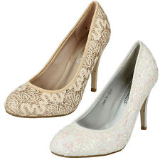 High Heel (3-4.5 in.) Stiletto Textile Shoes for Women