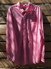 Saddlebred Big Man's 2X Casual Dress Shirt L/S Pearl Bttns Gingham Pink White