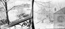 BOIS COLOMBES c. 1900 sous la Neige - 16 Stéréos stéréo Verre - 274