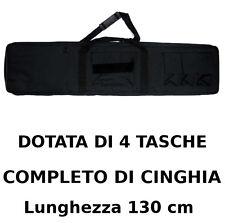 Borsa Fodero Custodia porta Fucile o carabina colore NERO con 4 Tasche 130 cm