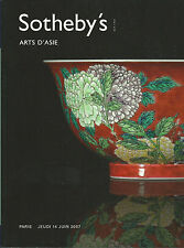 SOTHEBY'S ASIAN ART CHINESE CERAMICS JADE IVORY BRONZES CLOISONNE JAPAN Cat 2007