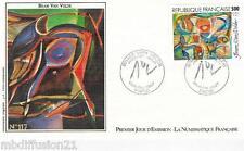 1987**ENVELOPPE**FDC 1°JOUR!!**PEINTURE DE BRAM VAN VELDE**TIMBRE Y/T 2473