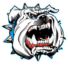 Bulldog Head 43Mm By43Mm (Set Of 4) Vinyl Decal Gloss Laninated Australian Made