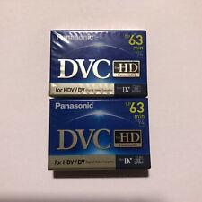 Panasonic DVC Mini DV tape for HD Camcorder (63 minutes) 2-pack