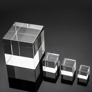 Transparent Crystal Cube Lens For Optical Prism Photography And Home Decorations