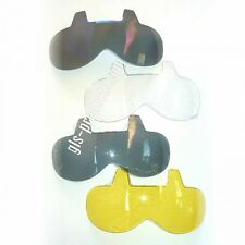 Bandit Mini Visors fit almost all open face helmets clear smoke mirrored yellow