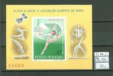 MTA1165 Romania 1980 MNH s/s Olympic Sport Gymnastics CV 36 eur