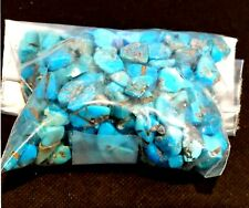 Antique Vintage NOS Genuine Turquoise BEADS Assorted Shapes Most Drilled  #N917