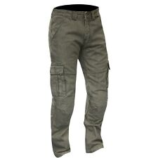 Merlin Portland Cargo Motorcycle Made With DuPont Kevlar Jeans CE Armour Grey