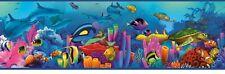 Under Da' Sea Tropical Fish Easy Walls Wallpaper Border TOT46351B