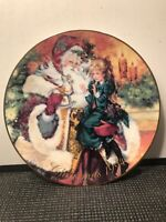 AVON COLLECTIBLE CHRISTMAS PLATE YEAR 1994 OLDE TIME SANTA CLAUS  8 1/4''