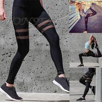 Women Sports Trouser Yoga Workout Gym Leggings High Waist Fitness Athletic Pants
