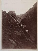 Scalinata Rocher snapshot Foto Amateur Vintage Citrato c1900
