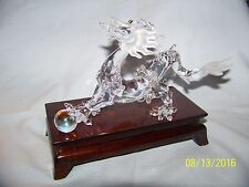 Swarovski Silver Crystal Zodiac Dragon Figurine New In Box Retired 7550Nr000005