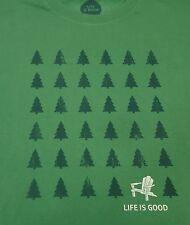 Men's Life is Good Shirt Adirondack Evergreens  Large