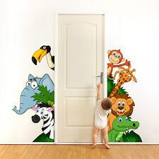 R00002 Wall Stickers Sticker Adesivi Murali Camerette Animaletti Safari 60x120cm