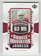 2003 UD NFL PATCH COLLECTION BRYANT JOHNSON ROOKIE INNOVATION RC #143 Cardinals