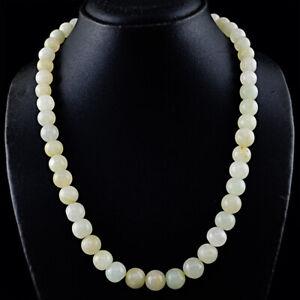 564 Cts Earth Mined Single Strand Aventurine Round Shape Beads Necklace JK 55KY6