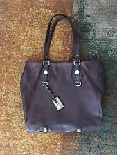 Marc by Marc Jacobs Chocolate Brown Leather Dr Q Classic Tote Pebbled