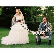 Just Married Garland Wedding Banner Car Bunting Party Decor Photo Heart Sign