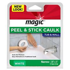 "Magic Tub & Wall Caulk Strip, 7/8"" by 11', White"