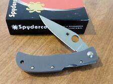 SPYDERCO New Sprint Run Gray G-10 Handle Baby Horn Plain VG-10 Bld Knife/Knives